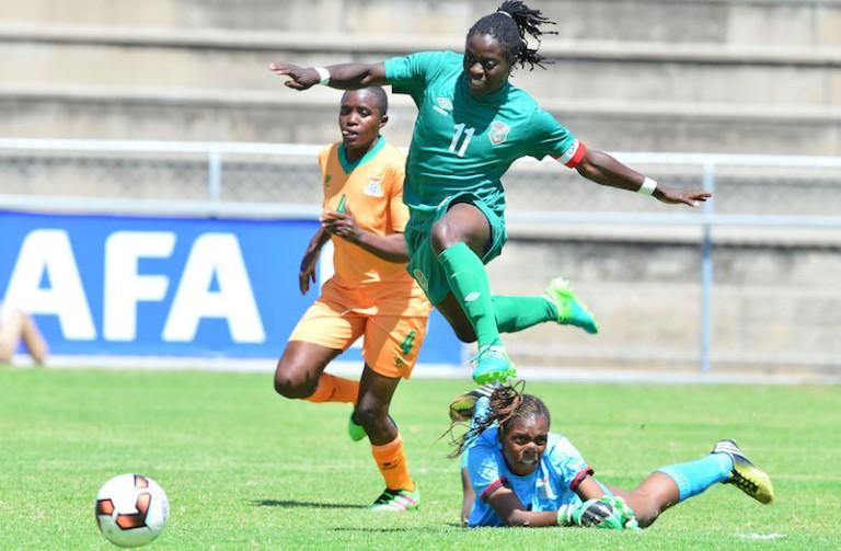 Football - 2017 COSAFA Women's Championship - Zambia v Malawi - Barbourfields Stadium - Bulawayo